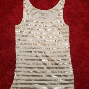 Blinged out old navy tank top NWOT